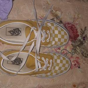yolk yellow Checkered vans